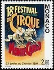 "MONACO STAMP TIMBRE N° 1923 "" CIRQUE , BALLERINE ET CHEVAL "" NEUF xx LUXE"