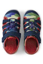 NEW Lands End Boys Action Closed Toe Sandal 3 Wide GS Sandals Shoes Blue Camo