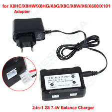 2 in1 7.4V 2S Balance Charger+Adapter for Syma X8C/G/W/X8HG/HW/X6 RC Quadcopter