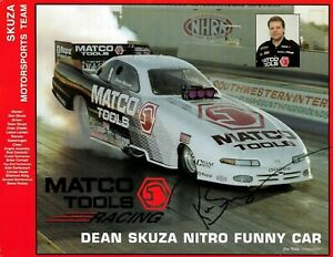 "DEAN SKUZA Signed MATCO TOOLS NHRA Autograph FUNNY CAR Promo PHOTO 11""x8"""