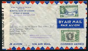 BRITISH HONDURAS: (21463) 1942 I.D./8817 censored /Jamaica cover