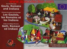 Kinder RARO DIORAMA Tedesco Set ASTERIX INDIANI e ROMANI Bastelbogen RARE