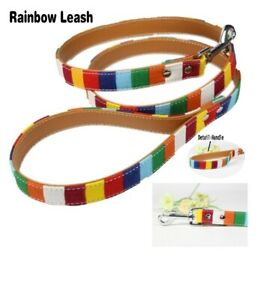 Dog Leash Leather Durable Aluminum Outdoor Travel Pet Decorations Accessories