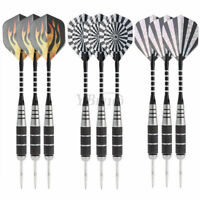 3Pcs Professional Steel Target Throwing Tip Darts Set With Dart Flights 22g.