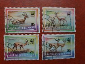 Niger - 1998 -  Gazelles Wild Deer - 4 stamp set - CTO