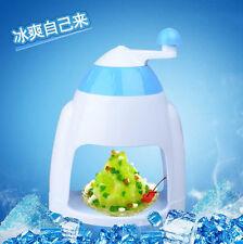 New Ice Shaver Machine Snow Cone Maker Shaving Crusher Drink Slushy Maker Blue