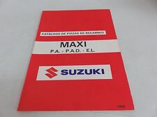 NOS Suzuki Scooter Maxi P.A. - P.A.D. - E.L. Catálogo de Piezas de Recambio