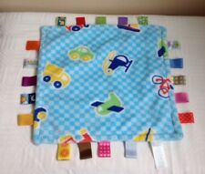 Taggies Comforter Blue Blankie Car Helicopter Lorry