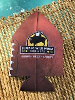 BUFFALO WILD WINGS GRILL&BAR BEER SODA COVER INSULATOR KOOZIE FOOTBALL PARTY