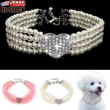 Pet Puppy Small Dog Jewellery Necklace Party Pearls Collar For Chihuahua Yorkie