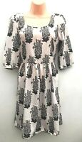 Stunning Ex High Street Dress Pink, Grey & Black 1/2 Sleeve Sizes 10-16 *NEW*
