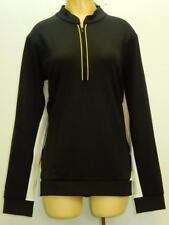 NWT$89 E&P Sport Womens Golf Long Sleeve Double Knit 1/4 Zip Black Pullover XL