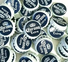 """50 """"Corona Extra"""" Beer Bottle Caps. Clean. Sanitized. Navy Blue and White Caps."""
