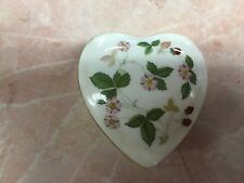 Wedgwood Wild Strawberry Heart Shaped Trinket Box