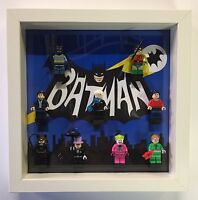 Display case Frame for Lego Batman Classic 1966 minifigures no figures