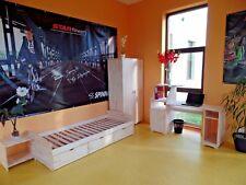 Chambres des jeunes d'enfants set complet bureau armoire table de chevet lit