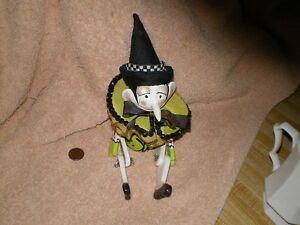 Pinocchio Art Doll, Paper Clay, Metal Futtings, Wood & Fabric
