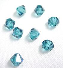 12 X Swarovski Crystal Beads 5301 Indicolite 6MM