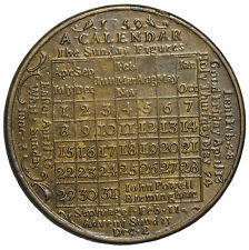 1759 Birmingham England Calendar Medal By John Powel
