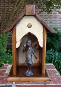 "Handmade Recycled Antique Heartwood Pine Collectible ""Angel Creche"""