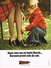 PUBLICITE ADVERTISING 035  1973  BARANNE  cirage chaussures