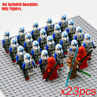 23Pcs Star Wars Minifigures Lot 501st Clone Trooper Lego Compatible Stormtrooper