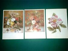 3 AK Blumen Emanuel Steiner Pro Infirmis Schweiz Künstlerkarte