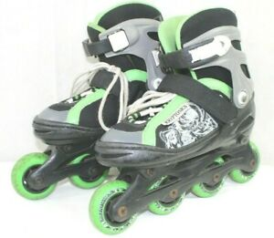 KRYPTONICS boys in line skates fits size 1 to 4 very good condition