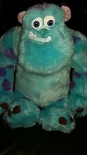 "DISNEY STORE MONSTER INC SULLY SULLEY SOFT TOY LARGE 15"" FLUFFY FUR PLUSH EX CON"