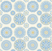 CELESTIAL SOL MANDALAS Cream Quilting Treasures 100% cotton fabric by the yard