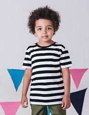 Kids Camiseta manga corta a Rayas Algodón Kids Camisa anular rayas camisetas
