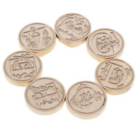 Wax Seal Stamp Alphabet Letter Retro Wood Stamp Kits Replace Copper head