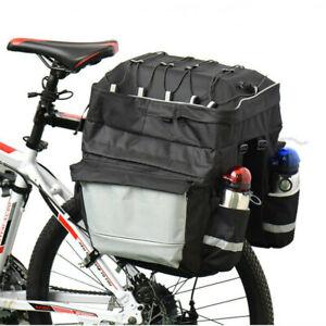 Mountain Bike 3-in-1 Pannier Camel Bag Rear Shelf Bag Waterproof Rear Rack Bag