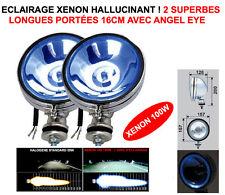 2 SUPER PHARES 16CM CHROME XENON ANGEL EYE! LAND PAJERO PATROL NAVARA JEEP HDJ