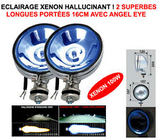 XENON! 2 TOP PHARES 16CM CHROME A LED ANGEL EYE! LAND PAJERO PATROL JEEP HDJ
