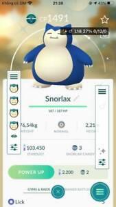 Pokémon Go *Shiny Snorlax* Mini ACC PTC
