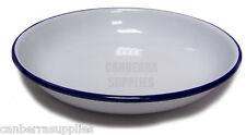 "Falcon Enamel Rice / Pasta Plate Traditional White - 22 x 3.5cm / 8.6"" x 1.3"""