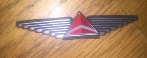 """Delta Airlines Silver Plastic Pilot Wings 2"""" NEW"""