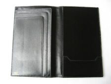 Hermes custom made bifold black calf leather wallet