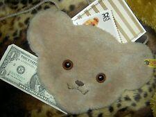 STEIFF teddy bear plush fur button-in-ear Large shoulder bag/purse 4 doll, child