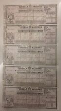 blocco di cinque BIGLIETTO GRANDE TOMBOLA NAZIONALE 1907  19/1/18
