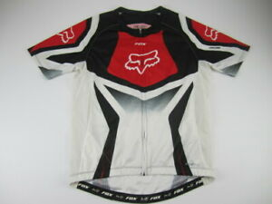 Mens Large FOX Racing Livewire red cycling jersey