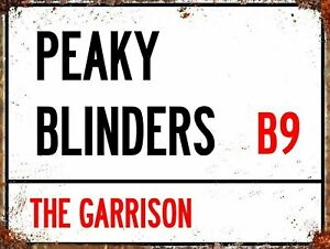 Peaky Blinders The Garrison, retro vintage style metal sign man cave shed Garage