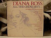 DIANA ROSS - ALL THE GREAT HITS 2 x LP EX+/EX+/EX+ 1981 ITA MOTOWN ATMLP 26004