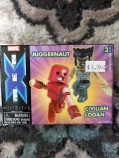 Minimates X-Men Juggernaut & Civilian Logan Diamond Select Toys
