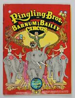 RINGLING BROS. BARNUM & BAILEY CIRCUS PROGRAM - 1970 With Unused Posters Inside