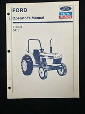 Ford New Holland Operator's Manual Tractor 3415 *1015