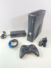 Microsoft Xbox 360 S Slim 250GB Console Black Tested & Complete Bundle *TESTED*