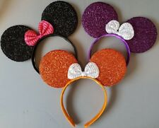 3 x Minnie mouse ears hairband fancy dress party HALLOWEEN  3 glitter colours