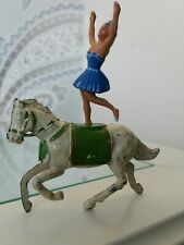 Vintage Lead Charbens Circus Horse with Dancer. Figure Combined Postage Offered.
